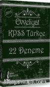 2015 Evveliyat KPSS Türkçe 22 Deneme