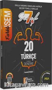 2020 Farklı İsem 7. Sınıf Türkçe Tamamı Çözümlü 20 Fasikül Deneme