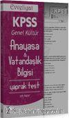 2016 KPSS Evveliyat Anayasa - Vatandaşlık Bilgisi Çek Kopar Yaprak Test