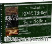 2016 Evveliyat KPSS Türkçe Ders Notları