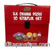 Kral Şakir İlk Okuma Kitapları Çantalı Set (10 Kitap Takım) (Kırmızı)