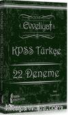 2016 KPSS Evveliyat Türkçe 22 Deneme