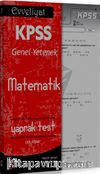 2016 Evveliyat KPSS Matematik Çek Kopar Yaprak Test