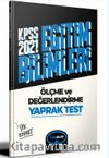 2021 Kpss Eğitim Bilimleri Ölçme ve Değerlendirme Çek Kopart Yaprak Test