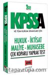 2021 KPSS A Grubu ve Tüm Kurum Sınavları İçin Hukuk-İktisat-Maliye-Muhasebe Çek Koparlı Yaprak Test