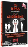2021 KPSS Eğitim Bilimleri Ölçme ve Değerlendirme, Öğrenme Psikolojisi Tamamı Çözümlü 40 Deneme