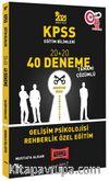 2021 KPSS Eğitim Bilimleri Gelişim Psikolojisi, Rehberlik Özel Eğitim Tamamı Çözümlü 40 Deneme