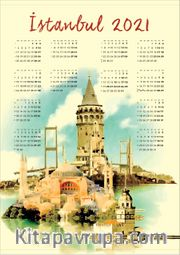2021 Takvimli Poster - Şehirler - İstanbul