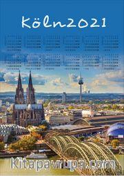 2021 Takvimli Poster - Sehirler - Köln