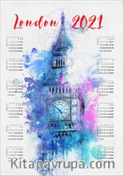 2021 Takvimli Poster - Sehirler - London Big Ben