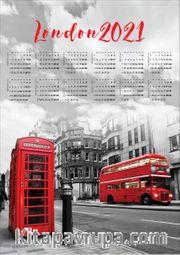 2021 Takvimli Poster - Şehirler - London Sokak