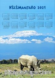 2021 Takvimli Poster - Afiş - Klimanjaro