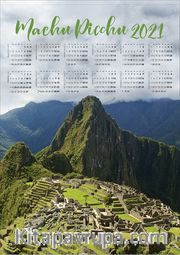 2021 Takvimli Poster - Afiş - Machu Picchu
