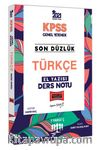 2021 KPSS Son Düzlük Türkçe El Yazısı Ders Notu