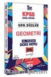2021 KPSS Son Düzlük Geometri El Yazısı Ders Notu