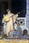 İki Müzisyen Kız  / Osman Hamdi Bey (OHB 011-50x75) (Çerçevesiz)