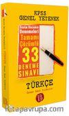 2017 KPSS Türkçe Tamamı Çözümlü 33 Deneme