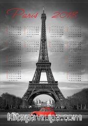 2018 Takvimli Poster - Şehirler - Paris