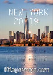 2019 Takvimli Poster - Şehirler - New York